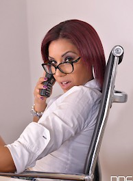 Latina Boss Rose Valerie Assfucked In The Office