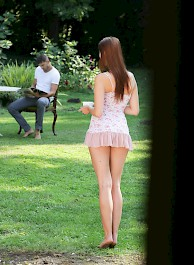 Sexy Natural Girl Chelsy Sun Fucked In The Garden