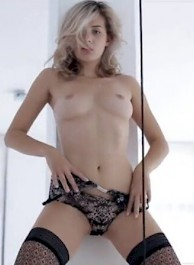 hot housewife shows her hairy pussy and strip