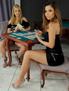 horny lesbian games after poker tournament