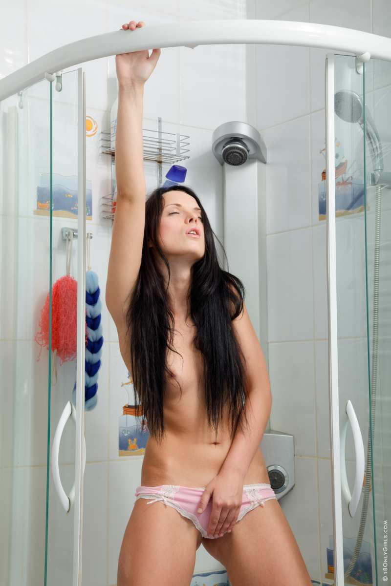 Naked girls playing in the shower
