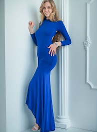 Ryana In Blue Dress