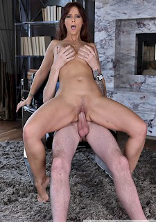 Redhead strips and plays with herself in the kitchen joe - 3 part 8