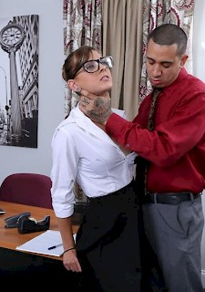 babe sexy intern Dakota Vixin gets punished by her boss