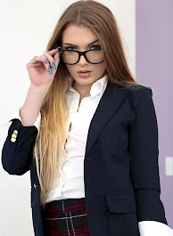 Horny Schoolgirl Amber Gray Sucks And Fucks
