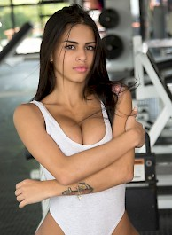 Denisse Gomez Fun In The Gym