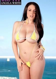 hot babe Angela White gets fondled in her bikini