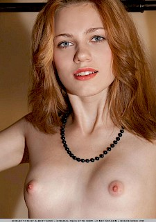 Redhead cute girl Shirley Tate gives you her tight pussy