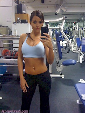 College Girl at Gym