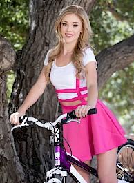 Kali Roses Poses Nude On Bike