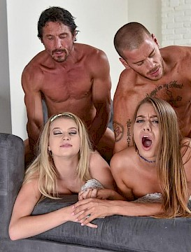 sexy lesbians Arya Faye and Jill Kassidy in The Treat Trade Part 2