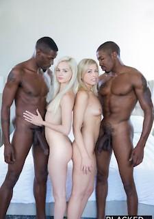 Blondes schwarzes Porno Video