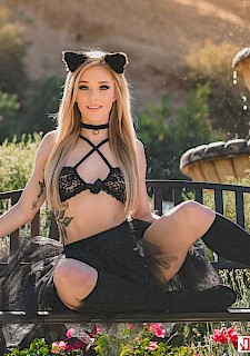 pretty babe Kali Roses in Catgirl Crawl