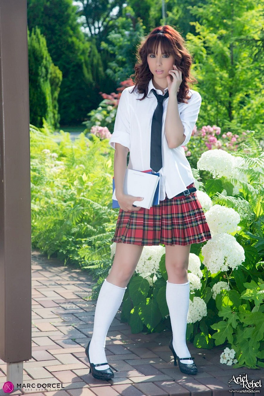 Pretty And Cute Schoolgirl Ariel Rebel Shows You Her Pussy Outside