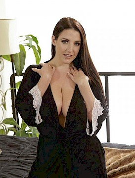 big boobs Angela White enjoys some hot sex in bed