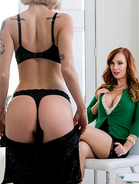 sexy lesbians Arya Faye and Dani Jensen eat each other out in Diary of a Nympho