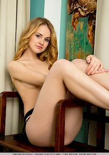 cute girl Alice May spreading her legs for u