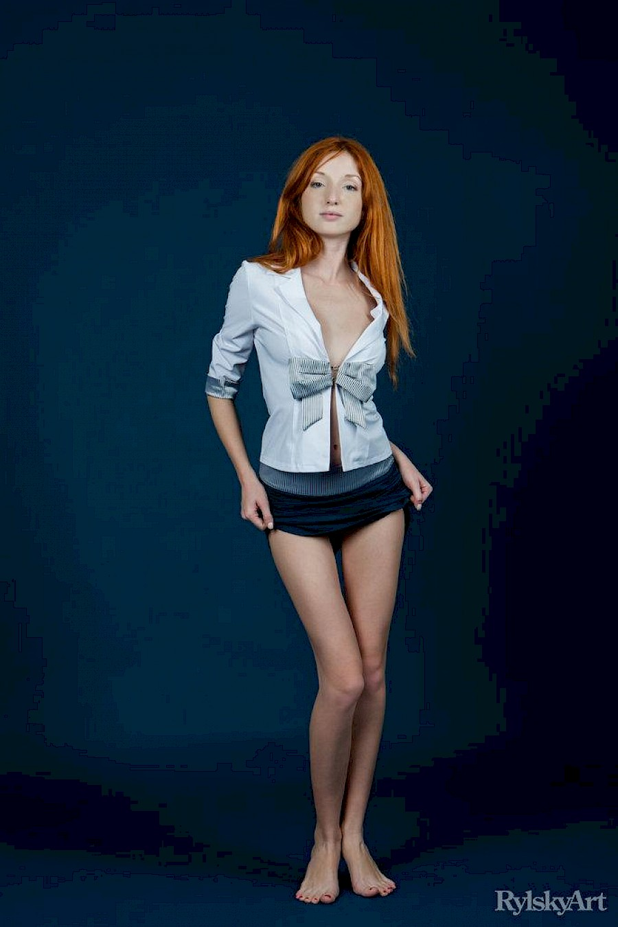 Redhead stripping nude nice