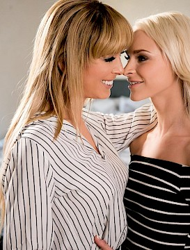 cute girl Emma has Lesbian Sex with Step-Mom Cherie DeVille