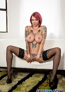 horny lesbians Vienna Black and Anna Bell Peaks team up to give you Jerk Off Instructions