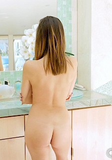 hot model babe Nina North giving POV sex in Shower Time Fun