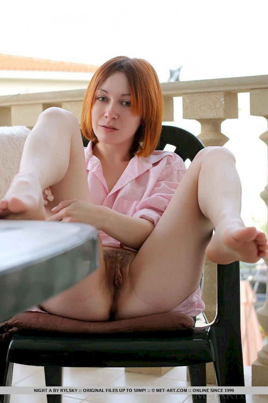 from Ronnie hot redhead strips for her webcam