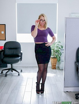 pretty girl Zoey Monroe takes on two of her coworkers