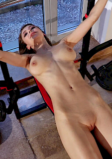 mila azul masturbate in gym
