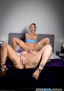 sexy babes Karma RX and Emma Hix go lesbian on each other