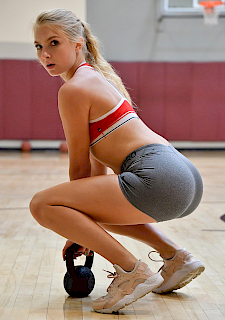 sexy Angel FTV in Hottie At The Gym