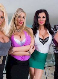 Four Big Boobed Sluts with one Cock